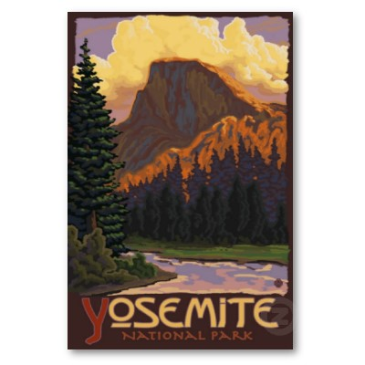 Yosemite National Park travel poster